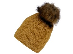 Női téli sapka bojttal és lurexel  Női kalap, sapka
