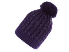 Női sapka lurexel - Sötétlila Női kalap, sapka