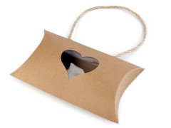 Ajándékdoboz szív - 5 db/csomag Ajándék csomagolás