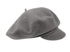 Női barett Tonak 100% gyapjú - Szürke Női kalap, sapka
