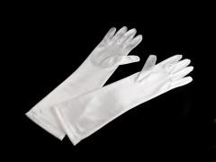 Alkalmi szatén kesztyű 40 cm - Fehér Női kesztyű