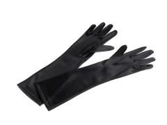 Alkalmi szatén kesztyű 40 cm - Fekete Női kesztyű