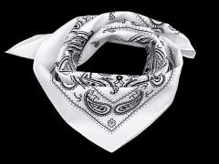 Pamut kendő - Paisley fehér mintás Férfi kesztyű, sál