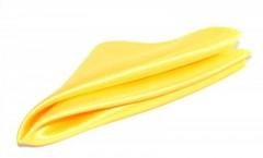 Szatén díszzsebkendő - Citromsárga
