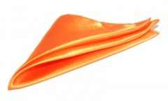 Szatén díszzsebkendő - Narancssárga