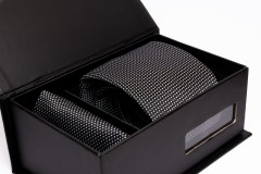 Prémium nyakkendő szett - Fekete pöttyös Nyakkendők