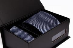 Prémium nyakkendő szett - Kék pöttyös Nyakkendők