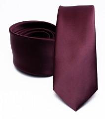 Prémium slim nyakkendő - Bordó Egyszínű nyakkendő
