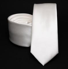 Prémium slim nyakkendő - Fehér Egyszínű nyakkendő