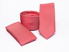 Prémium slim nyakkendő szett - Lazac pöttyös Nyakkendő szettek
