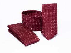 Prémium slim nyakkendő szett - Bordó pöttyös Nyakkendő szettek