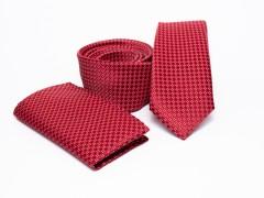 Prémium slim nyakkendő szett - Piros Nyakkendő szettek