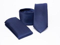 Prémium slim nyakkendő szett - Sötétkék Nyakkendő szettek
