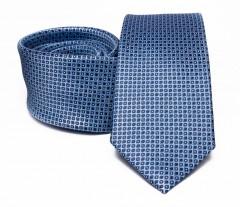 Prémium selyem nyakkendő - Kék aprómintás Selyem nyakkendők