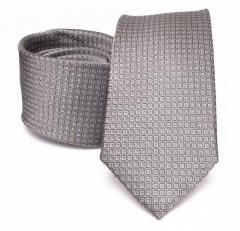 Prémium selyem nyakkendő - Szürke Aprómintás nyakkendők