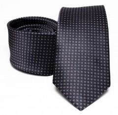 Prémium selyem nyakkendő - Grafit Selyem nyakkendők