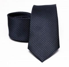 Prémium selyem nyakkendő - Sötétkék Aprómintás nyakkendők