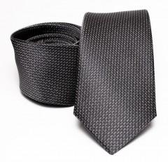 Prémium selyem nyakkendő - Szürke aprómintás Selyem nyakkendők