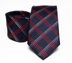 Prémium selyem nyakkendő - Sötétkék kockás Selyem nyakkendők