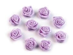 Mini textil virág 10 db/csomag - Halványlila Kitűzők, Brossok
