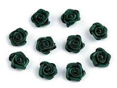 Mini textil virág 10 db/csomag - Fekete Kitűzők, Brossok