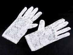 Alkalmi csipkekesztyű - Fehér Női kesztyű