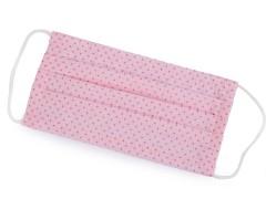 Pamut egyrétegű szájmaszk füles gumival - Rózsaszín Egészségügyi termékek
