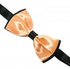 Zsorzsett szatén csokornyakkendő - Fekete-barack