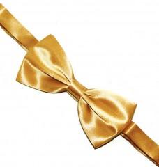 Zsorzsett szatén csokornyakkendő - Óarany