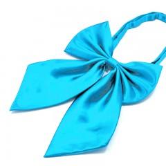 Szatén női csokornyakkendő - Türkízkék Női nyakkendők, csokornyakkendő