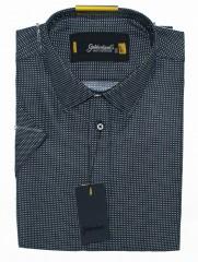 Goldenland smart fitt hosszúujjú ing - Mélykék pöttyös Rövidujjú ing