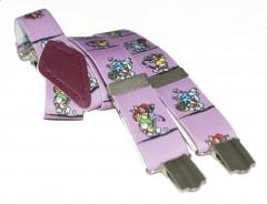 Gyerek nadrágtartó - Lila gyerekmintás Gyermek nadrágtartók