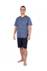 Vladan férfi 100 % pamut pizsama rövid Férfi zokni, pizsama