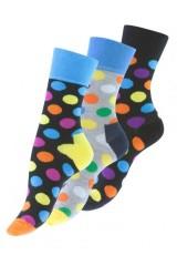 Női pöttyös zokni színes - 3 db/csomag Női zokni, harisnya, pizsama