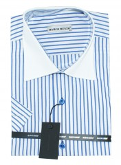 Marco Renzo r.u. férfi ing - Kék csíkos Rövidujjú ing