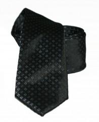 Goldenland slim nyakkendő - Fekete aprókockás