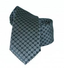 Goldenland slim nyakkendő - Grafit kockás Kockás nyakkendők
