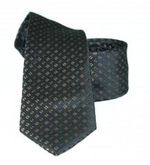 Goldenland slim nyakkendő - Fekete aprópöttyös