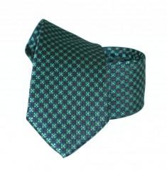 Goldenland slim nyakkendő - Zöld aprómintás