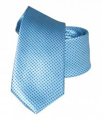 Goldenland slim nyakkendő - Égszínkék pöttyös