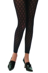 Marlen 55 den mintás leggings - Fekete Női zokni, harisnya, pizsama