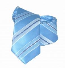 Goldenland slim nyakkendő - Kék csíkos Csíkos nyakkendő