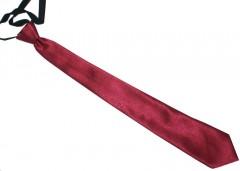 Szatén gumis nyakkendő - Bordó Egyszínű nyakkendő