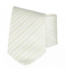Classic prémium nyakkendő - Ecru csíkos Csíkos nyakkendő