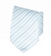 Classic prémium nyakkendő - Ezüst csíkos Csíkos nyakkendő