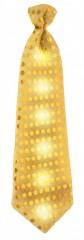 LED party nyakkendő - Arany Party,figurás nyakkendő