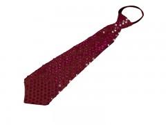 Nyakkendő flitterekkel - Bordó Party,figurás nyakkendő