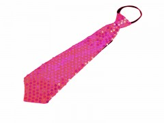 Nyakkendő flitterekkel - Pink Party,figurás nyakkendő
