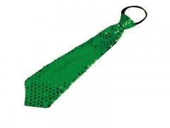 Nyakkendő flitterekkel - Zöld Party,figurás nyakkendő
