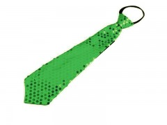 Nyakkendő flitterekkel - Almazöld Party,figurás nyakkendő